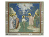 Baptism of Christ Giclee Print by  Giotto di Bondone