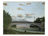 The Charenton Bridge Giclée-tryk af Henri Rousseau