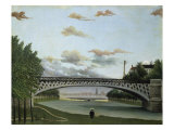 The Charenton Bridge Giclee Print by Henri Rousseau