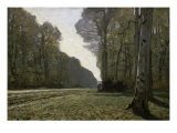 Route Du Bas-Breau Premium Giclee Print by Claude Monet