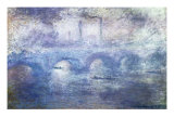 The Waterloo Bridge, Effect of Fog Giclée-tryk af Claude Monet