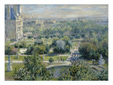 View of the Tuileries Gicléedruk van Claude Monet