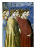 The Virgin's Wedding Procession, Detail Giclee Print by Giotto di Bondone