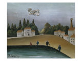 Fishermen with Their Lines Premium Giclee Print by Henri Rousseau