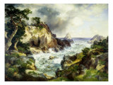 Point Lobos, Monterey, California Giclee Print by Thomas Moran