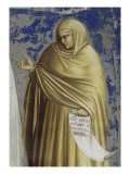 Presentation at the Temple (Detail of Anna) Giclee Print by Giotto di Bondone