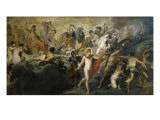 The Council of the Gods Giclee Print by Peter Paul Rubens