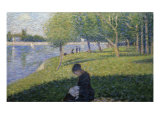 Study for Sunday on la Grande Jatte Giclée-trykk av Georges Seurat