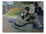 Camille Monet on a Garden Bench Giclee Print by Claude Monet