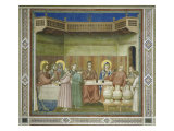Wedding at Cana Lámina giclée por Giotto di Bondone