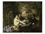 Le Dejeuner Sur L'Herbe Giclee Print by Édouard Manet