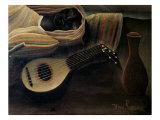 The, Detail Sleeping Gypsy Giclee Print by Henri Rousseau