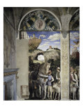 Camera Degli Sposi: West Wall, Grooms Giclee Print by Andrea Mantegna