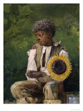 Taking Sunflower to Teacher Giclee Print by Winslow Homer