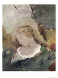 Title Unknown (Woman with Flowers in Hair) Giclee Print by Odilon Redon