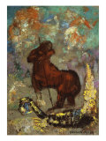 Centaur and Dragon Giclee Print by Odilon Redon
