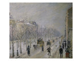 The Effect of Snow on the Boulevard's Appearance Reproduction giclée Premium par Camille Pissarro