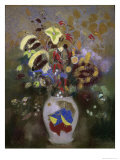 Vase with Flowers Giclee Print by Odilon Redon
