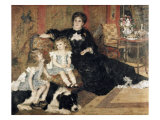 Madame Charpentier and Her Children Lámina giclée por Pierre-Auguste Renoir