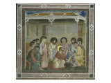 The Washing of the Feet Premium Giclee Print by  Giotto di Bondone