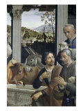 Adoration of the Shepherds Detail Giclée-tryk af Domenico Ghirlandaio