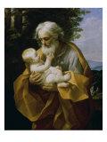 St. Joseph with the Jesus Child Giclee-trykk av Guido Reni