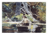 Adirondack Guide Giclee Print by Winslow Homer
