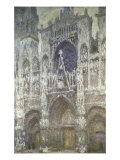 Rouen Cathedral (The Portal, Gray Weather) Giclee Print by Claude Monet