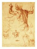 Anatomy Sketches (Libyan Sibyl) Giclee Print by Michelangelo Buonarroti 