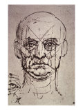 Proportions of the Face Premium Giclee Print by  Leonardo da Vinci