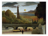 The Eiffel Tower Giclee Print by Henri Rousseau