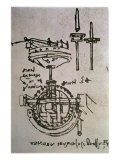 Mechanical Drawings No.3 Giclee Print by Leonardo da Vinci