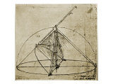 Measuring Instruments Giclee Print by Leonardo da Vinci 