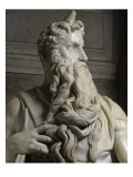Moses (Detail of Face) Giclee Print by  Michelangelo Buonarroti
