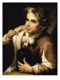 Young Man Drinking Giclee Print by Bartolome Esteban Murillo