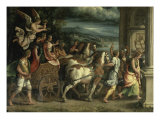 The Triumph of Titus and Vespasian Giclée-tryk af Giulio Romano