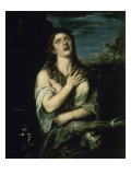 Penitent Magdalene Giclee Print by  Titian (Tiziano Vecelli)