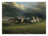 Course de Chevaux a Epsom Giclee Print by Th&#233;odore G&#233;ricault
