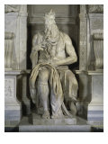 Moses (Full Frontal View) Giclee Print by Michelangelo Buonarroti