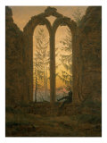 A Dreamer Reproduction procédé giclée par Caspar David Friedrich