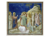 The Raising of Lazarus Premium Giclee Print by  Giotto di Bondone