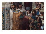 The School of Athens, Detail Reproduction procédé giclée par Raphael