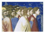 The Suitors' Prayer Before the Rods,, Detail Giclee Print by  Giotto di Bondone