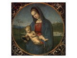 Madonna and Child (Conestabile Madonna) Impression giclée par  Raphael