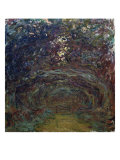 L'Allee de Rosiers a Giverny Giclee Print by Claude Monet