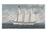 Schooner-Elsie Bayless Giclee Print by Antonio Jacobsen