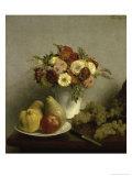 Fleurs et Fruits Giclee Print by Henri Fantin-Latour