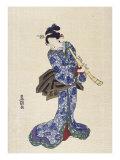 Shakuhachi Giclee Print by  Toyokuni