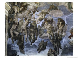 The, Detail Last Judgement Premium Giclee Print by  Michelangelo Buonarroti