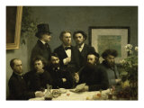 Coin de Table Giclee Print by Henri Fantin-Latour